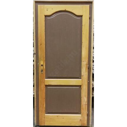 Beltéri ajtó lucfenyőfa 2 kazettás íves 100x215 cm BONTOTT tele jobbos 4. sz.