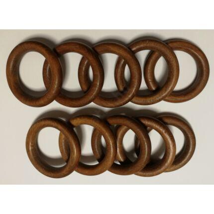 Függönytartó bükkfa fakarika átm. 37/56 mm barna színű 10 db/csomag