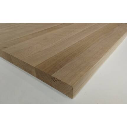 Asztallap táblásított tölgyfa TM 42 mm  800x800 mm 0,64  m2 / 22 kg / tábla HU++