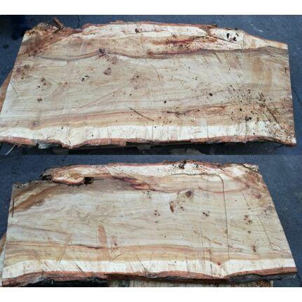Asztallap nyárfa 1700x800-900 mm 70-80 mm vastag fűrészelt felülettel 1,36 m2 1. sz