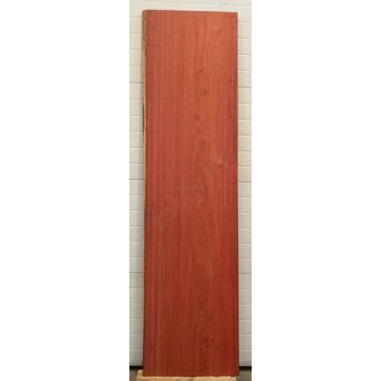 Asztallap padauk fa 2400x570 mm 47 mm vastag gyalult felülettel 4. sz.  kb. 56 kg