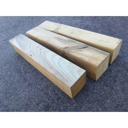 Fenyő gerenda telített 85x85x 600-750 mm impregnált kültéri faanyag