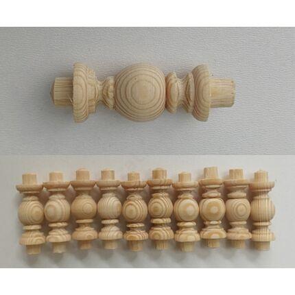 Polckorlát oszlop fenyőfa átm. 16x35 mm 10 db / csomag csapos 7.sz HEF