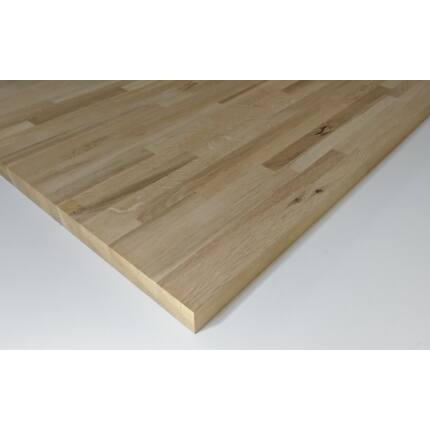 Asztallap táblásított tölgyfa HT 27 mm 1200x600 mm Rusztikus 0,72  m2 / 16 kg / tábla  HU++