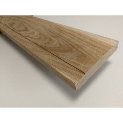 Küszöb tölgy 1000x115 mm 20 mm vastag küszöbsín horony marással fa küszöb