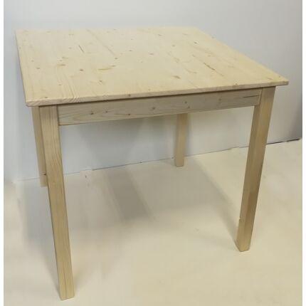 Asztal fenyőfából 800x800x750 mm natúr feleületű BZ HU++
