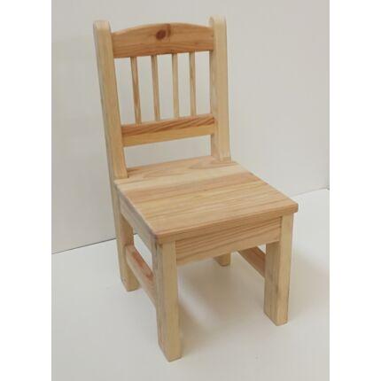 Szék fenyőfából gyerek szék natúr felüleltű BZ HU++