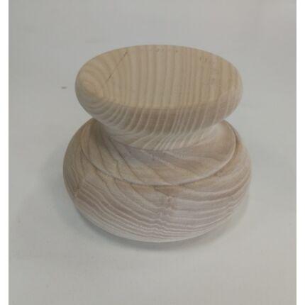 Bútorláb fa szekrényláb nyakas kőris átm. 100x70 mm esztergált MF HU+