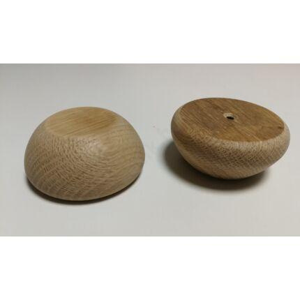 Bútorláb fa szekrényláb pogácsa tölgy átm.  70x30 mm kúpos HEF HU++