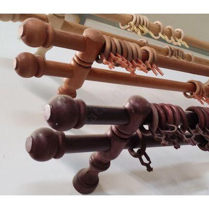 Függönykarnis készlet két soros mahagóni színű 1750 mm