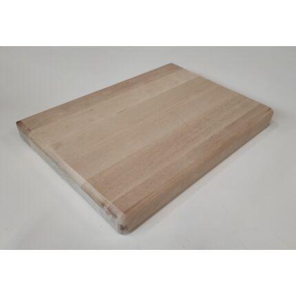 Konyhai vágódeszka nyírfa 350x230x28 mm mart éllel