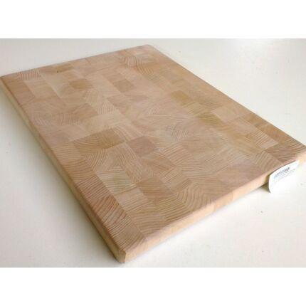 Konyhai vágódeszka 380-420x310-360x37 mm BÜTÜ bükk fa tábla mart éllel