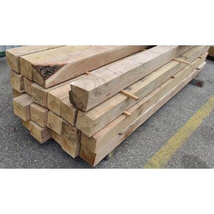 Tölgyfa gerenda 120x120x2000 mm  kb. 23 Kg/db