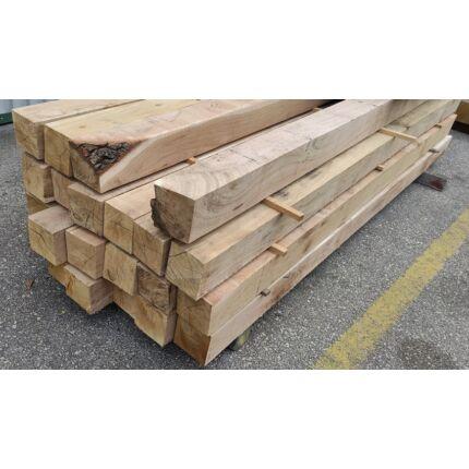 Tölgyfa gerenda 120x120x2500 mm  kb. 29 Kg/db