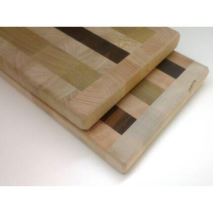 Konyhai vágódeszka 330x230x31 mm BÜTÜ Új Mintával vegyes fafajokból tábla mart éllel