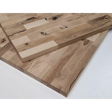 Asztallap táblásított tölgyfa HT 30 mm 1250x720 mm Rusztikus 0,9  m2 / 23 kg / tábla  HU++