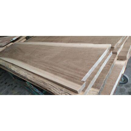 Asztallap dibetou fa 2220x570 mm 40 mm vastag gyalult felülettel 1. sz. kb. 28 kg SZLN TRO ZA