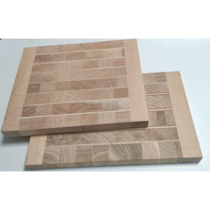 Konyhai vágódeszka 250-300x330-380x28 mm BÜTÜ Mintával vegyes fafajokból tábla