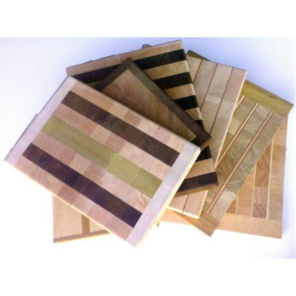 Konyhai vágódeszka 270-350x200-270x21-31 mm Új Mintával vegyes fafajokból tábla mart éllel
