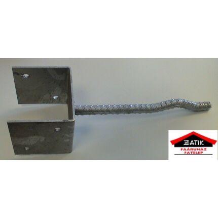 Oszloptartó talp betonozható  80x80 mm Y horganyzott RE HU++