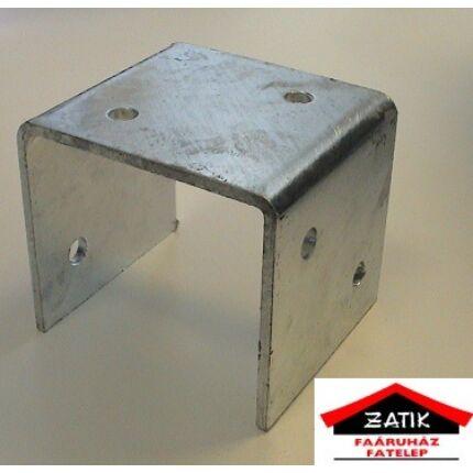 Oszloptartó talp lecsavarozható 115x115 mm U alakú horganyzott Re HU++