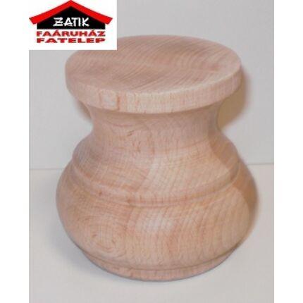 Bútorláb fa szekrényláb nyakas bükk átm.  80x70 mm esztergált MF HU+