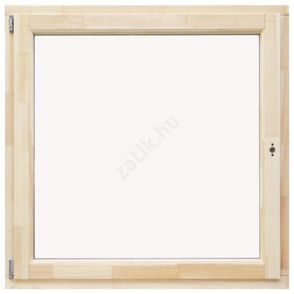 Ablak bukó nyíló  120x120 cm balos thermo üveggel borovi fenyő fa ablak DE HU+