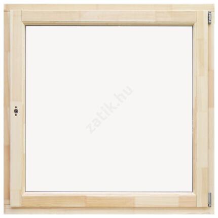 Ablak bukó nyíló  120x120 cm jobbos thermo üveggel borovi fenyő fa ablak DE HU+