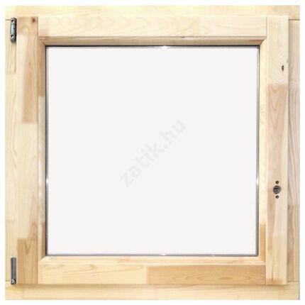 Ablak bukó nyíló   90x 90 cm balos thermo üveggel borovi fenyő fa ablak DE HU+
