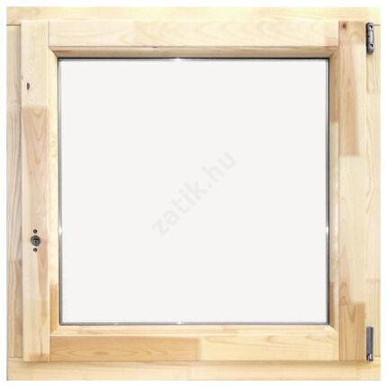 Ablak bukó nyíló   90x 90 cm jobbos thermo üveggel borovi fenyő fa ablak DE HU+