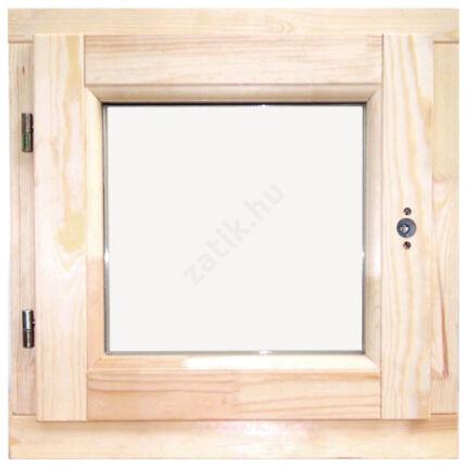 Ablak bukó nyíló   60x 60 cm balos thermo üveggel borovi fenyő fa ablak DE HU+