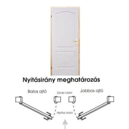 Beltéri ajtó betétmintás M1    75x210 cm tele bal gerébtokkal gipszkarton falhoz MAS