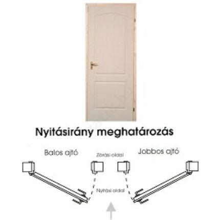 Beltéri ajtó dekorfóliás  Fehér szín 100x204x12 cm  tele jobbos M1 EGYEDI MAS136 utólag szerelhető