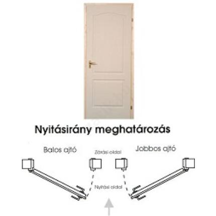 Beltéri ajtó betétmintás M1   100x210 cm tele jobb gerébtokkal gipszkarton falhoz MAS