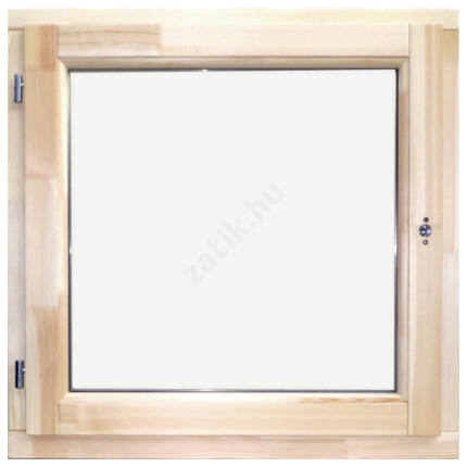 Ablak oldalt nyíló borovi  90x90 cm balos (sj)