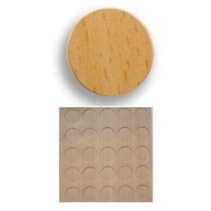 Csavartakaró öntapadós fólia bükk gőzölt átmérő 13 mm korong 20 db / levél