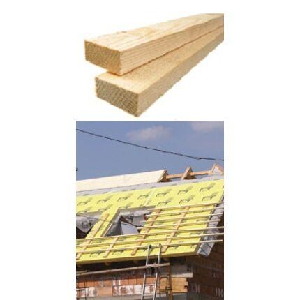 Tetőléc szál 28x48x4000 mm SZÁRÍTOTT prémium építő minőség ( bramac léc) párnafa