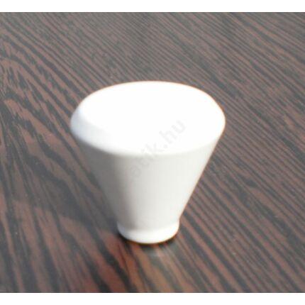 Bútorgomb fém átm. 24x34 mm kúpos fehér színű