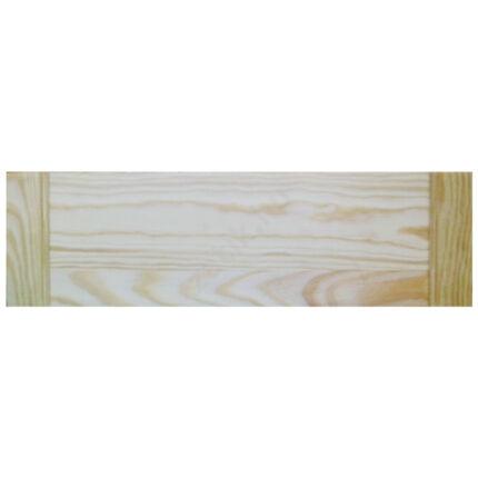 Bútorfiók fenyő nyitott lamellás bútorajtóhoz 125x444 mm szekrényajtó
