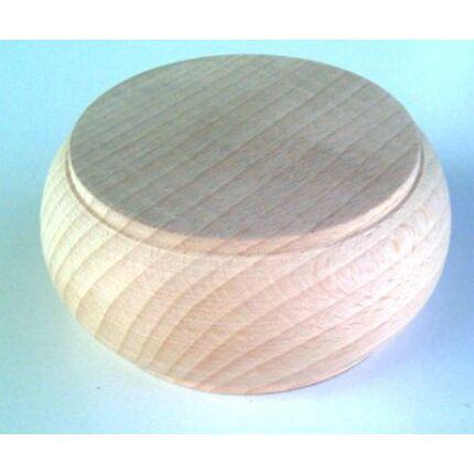 Bútorláb fa szekrényláb pogácsa bükk átm.  80x45 mm esztergált MF HU+