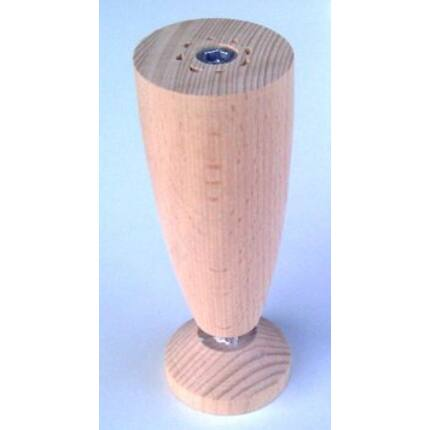 Bútorláb fa szekrényláb kehely bükk átm. 47x125-150 mm állítható  esztergált MF HU+