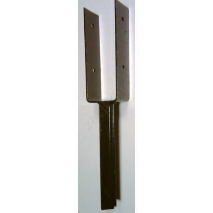 Oszloptartó talp betonozható  75x60 mm Y festett