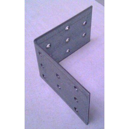 Hajlított perforált acél lemez 80x72x72x2 mm csomóponti horganyzott sarokvas  HU+