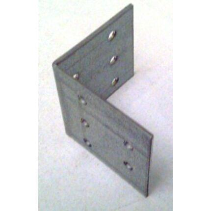Hajlított perforált acél lemez 48x48x48x2 mm csomóponti horganyzott sarokvas  HU+