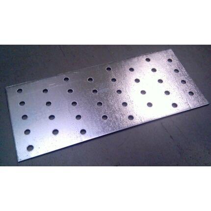 Perforált acél lemez lap 82x192x2 mm horganyzott