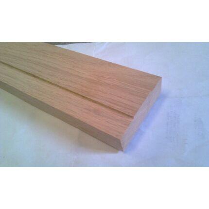 Küszöb tölgy 1000x 75 mm 20 mm vastag küszöbsín horony marással fa küszöb
