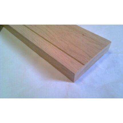 Küszöb tölgy 1300x145 mm 20 mm vastag küszöbsín horony marással fa küszöb