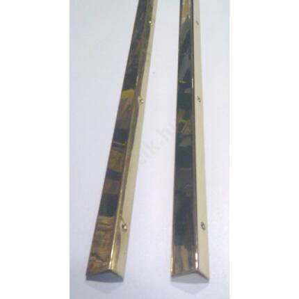 Küszöbsín réz hajlított 1300 mm hosszú 20 mm széles 2 db/csomag  + csavarok (zöld)