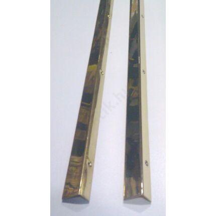 Küszöbsín réz hajlított  750 mm hosszú 20 mm széles 2 db/csomag  + csavarok (sárga)
