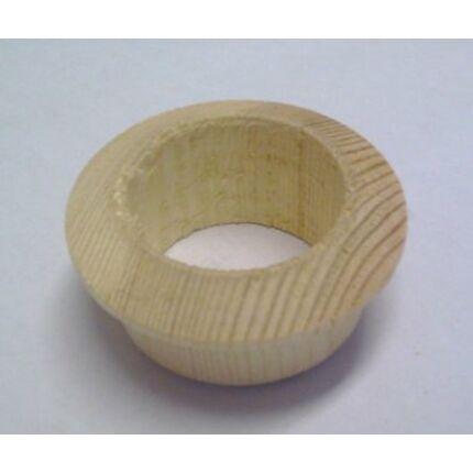 Szellőző fakarika borovi fenyőfa átm. 40 mm lyukra illeszthető 5 mm peremmel Hu+